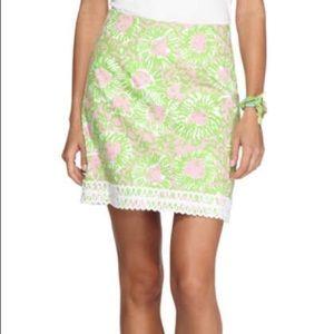 Lilly Purlitzer sunnyside lion print skirt 8 EXC!